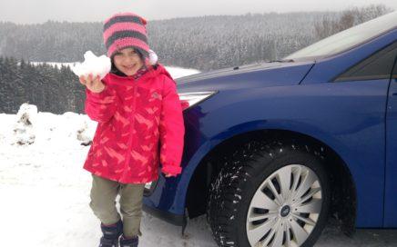 Der erste Schnee mit dem Bridgestone DriveGuard Winter Auto