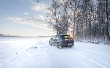 Bridgestone DriveGuard Winterreifentest Neuschnee